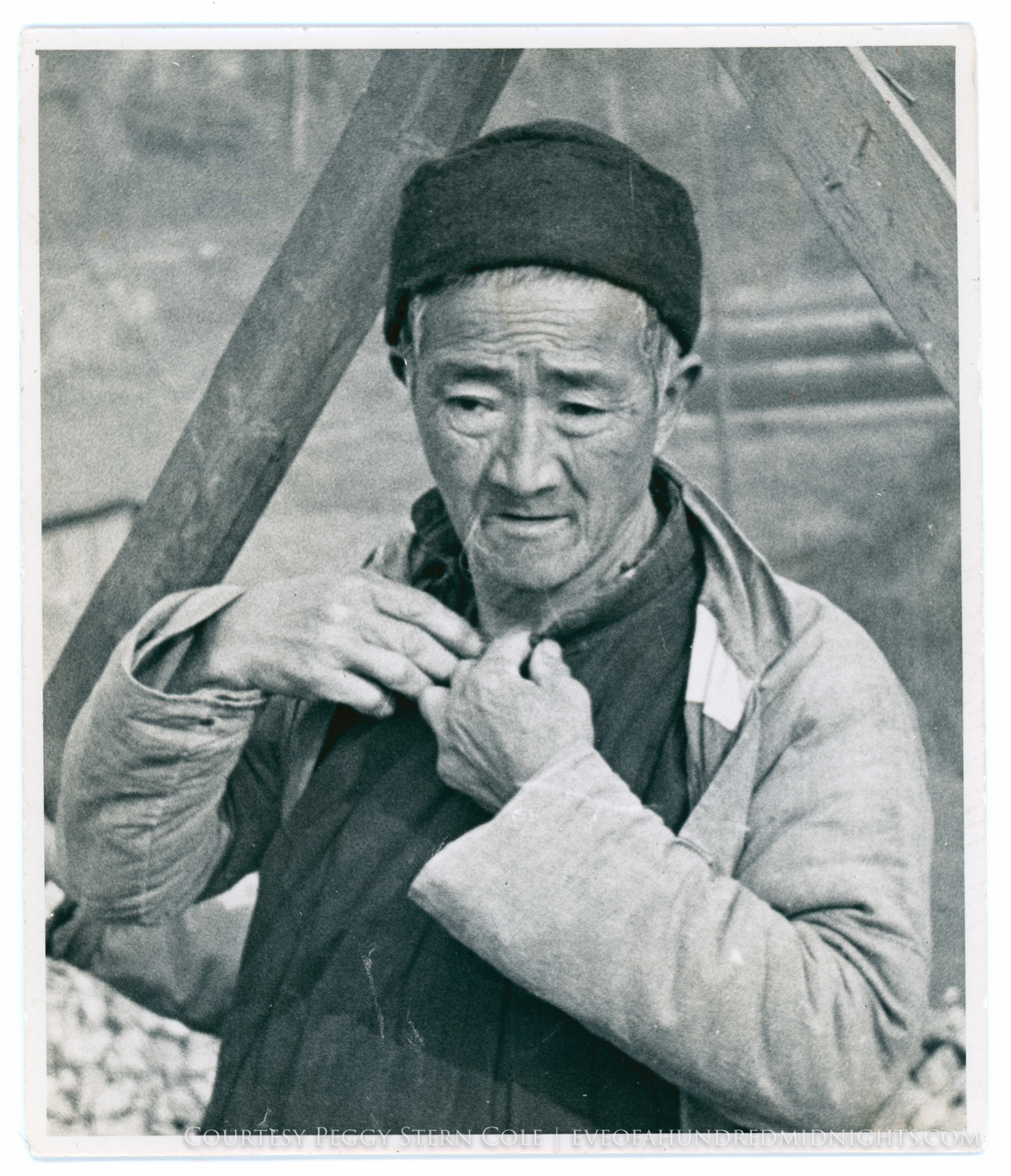 Nice portrait of old Chinese man with dark hat [rescan possibly needed].jpg