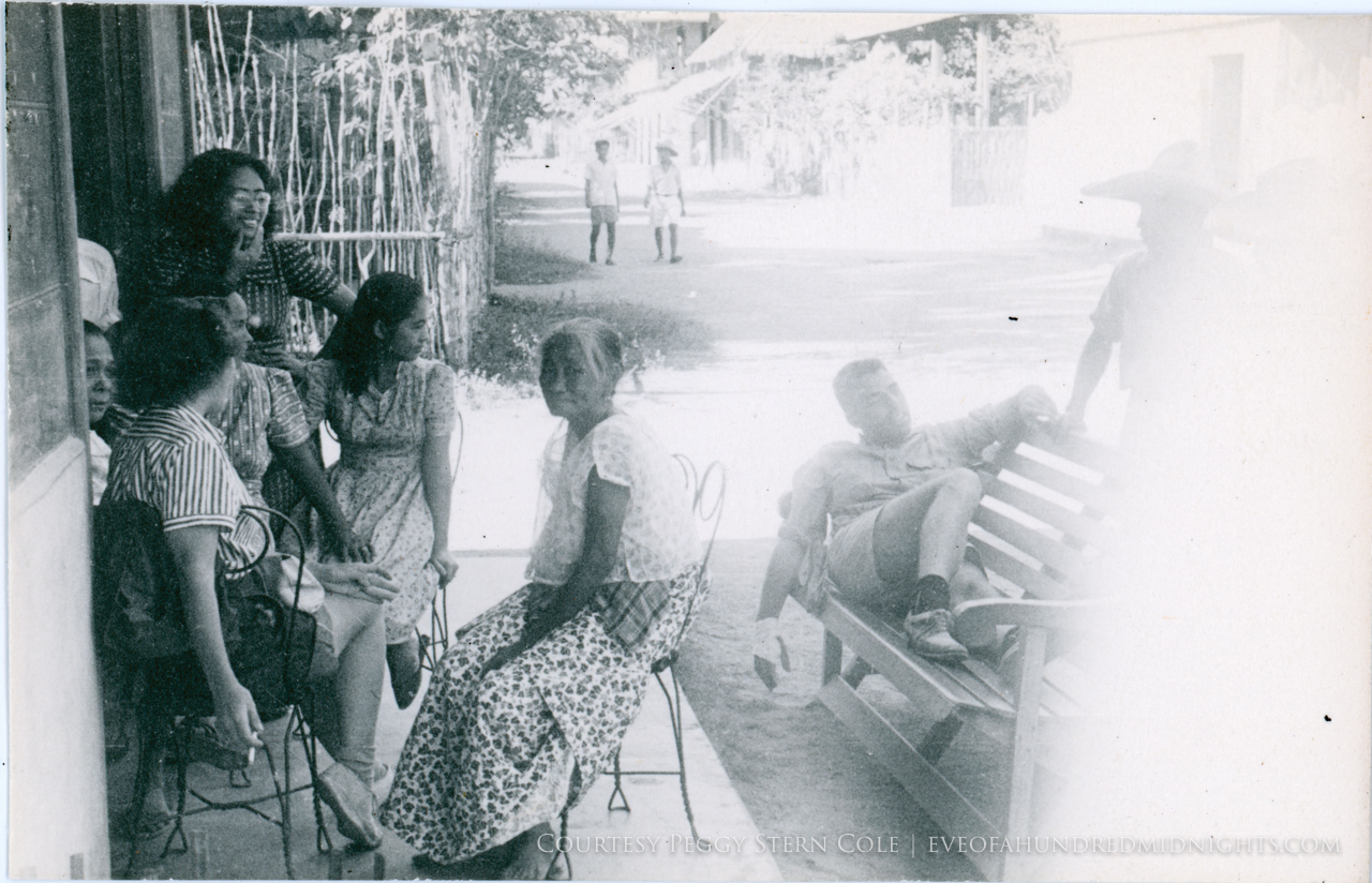 Women with Annalee and other escapee on bench.jpg
