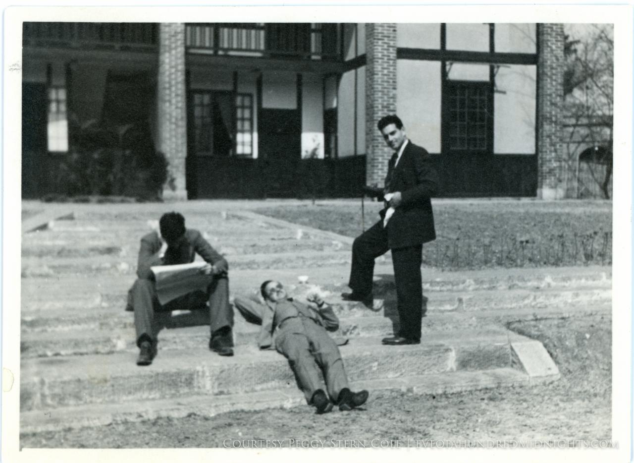Mel Mo Votaw and Hugh Deane on Press Hostel Steps.jpg