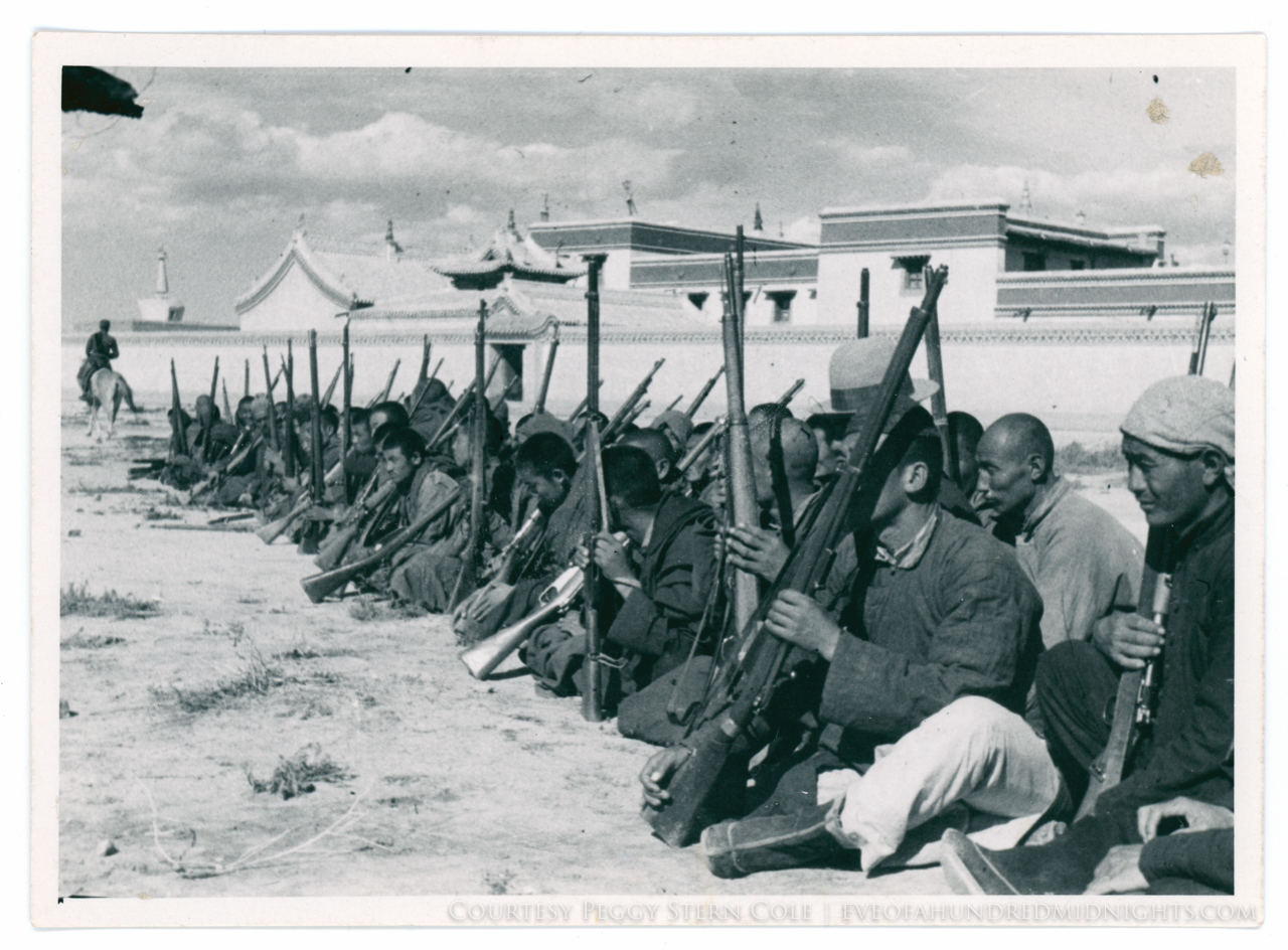 Men sitting with guns in lanchow - check - 169 mark on reverse - front.jpg