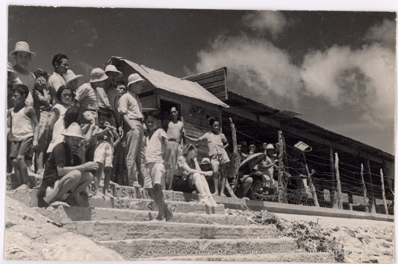 Annalee Jacoby on dockside steps in Cebu, the Philippines, in March, 1942. (Photo by Melville Jacoby)