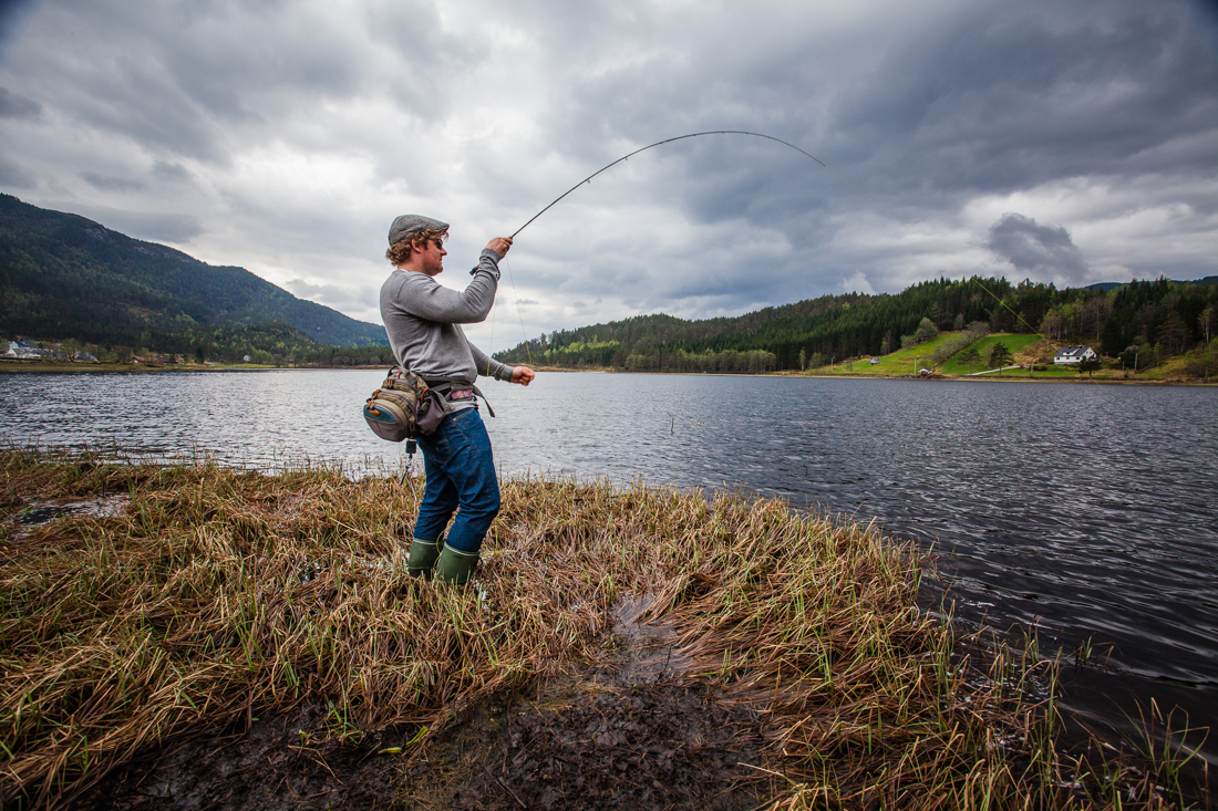 My brother fly fishing, Sirdal, Norway 2013.