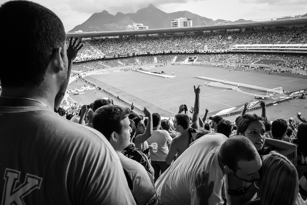 Maracanã is the home stadium for the two Rio teams, Fluminense and Flamengo. In 2007 I was there watching a local match between Flamengo and Botafoto. This photo essay is trying to convey some of the passion and emotions of football in Brazil.