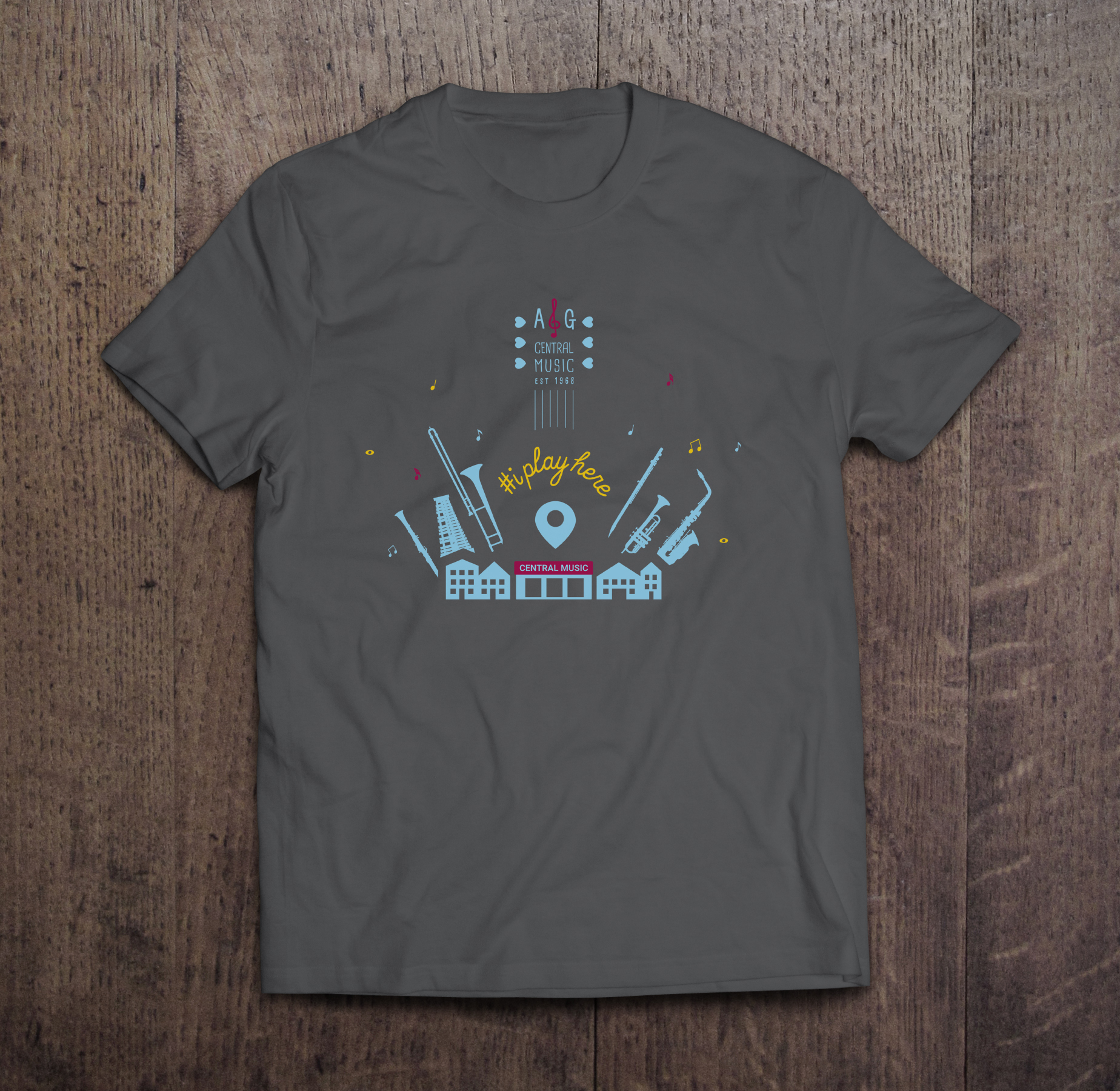 """iplayhere Tee For All, Sizes: S, M, L, XL, XXL /// Under $25   Special edition """"iplayhere"""" tee made for all our music lovers."""