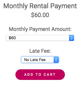 """Regardless of account status, the late fee option needs to be selected to """"No Late Fee,"""" or """"Late Fee.""""  We give a five day grace period for payments. If you're five days past your due date, your payment is late. You can find your due date on your  payment slip ."""