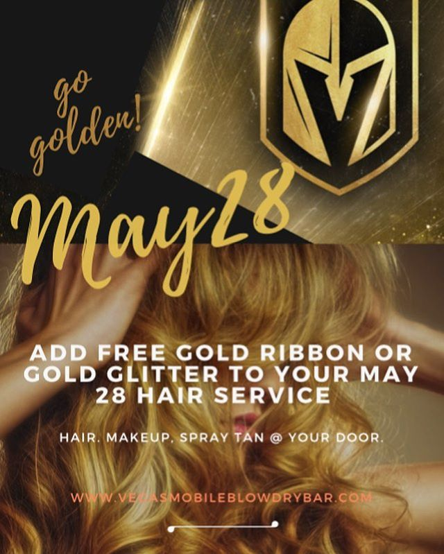 Help us light up the night! #goldenknights #goldenknightshockey #stanleycup #stanley #stanleycupplayoffs #vegas #vegasvip #vegashairstylist #vegasnightlife #vegasgoldenknights #vegasstrip #vegasready #vegassalon #goldenknightspride #hockeygirl #hockeychicks