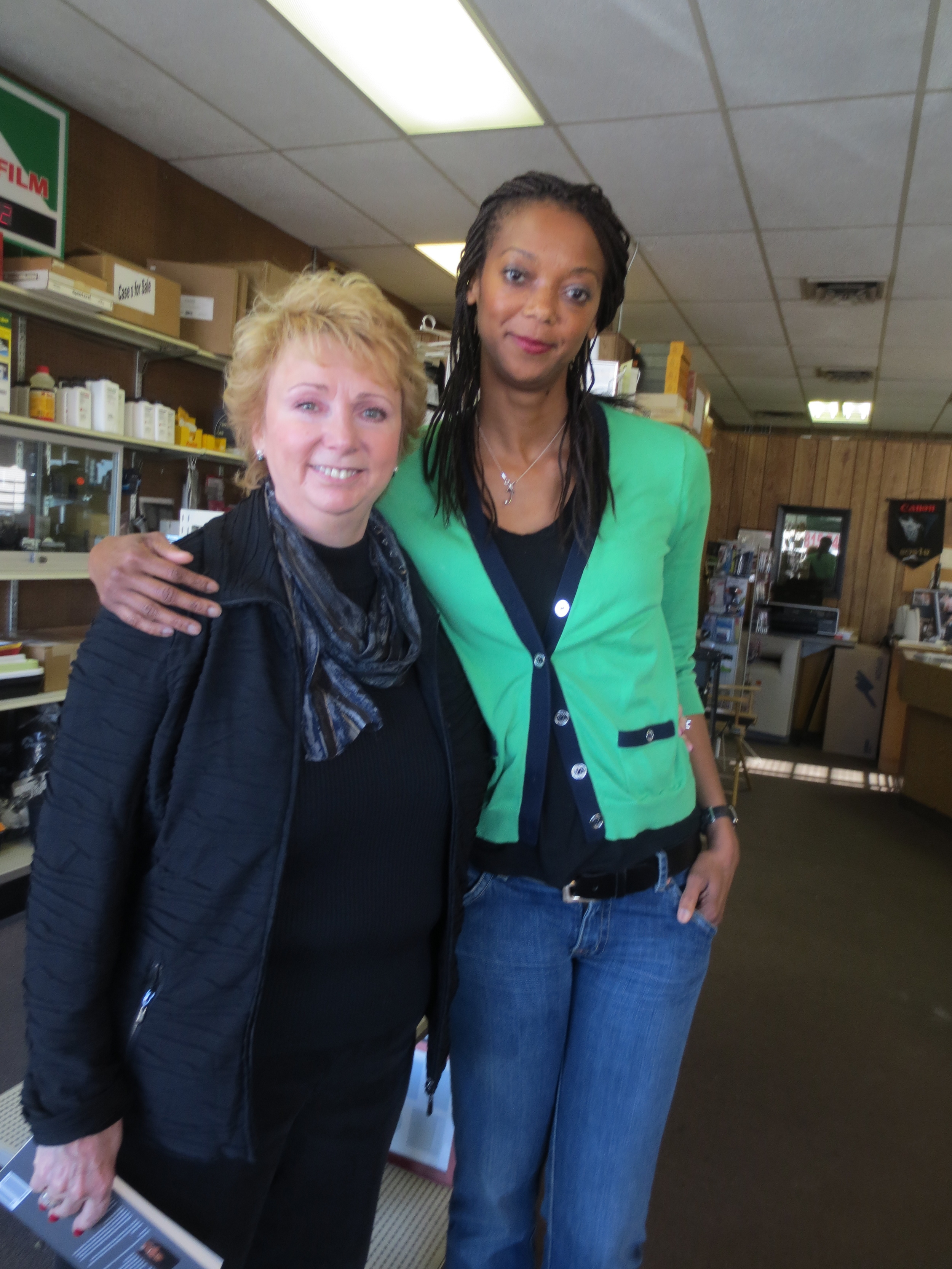 With one of my English teachers from junior high, Barbara Eberhard, or Ms. Porazinski as she was known then, at the Camera House, her now business that she runs with her husband, Steve.