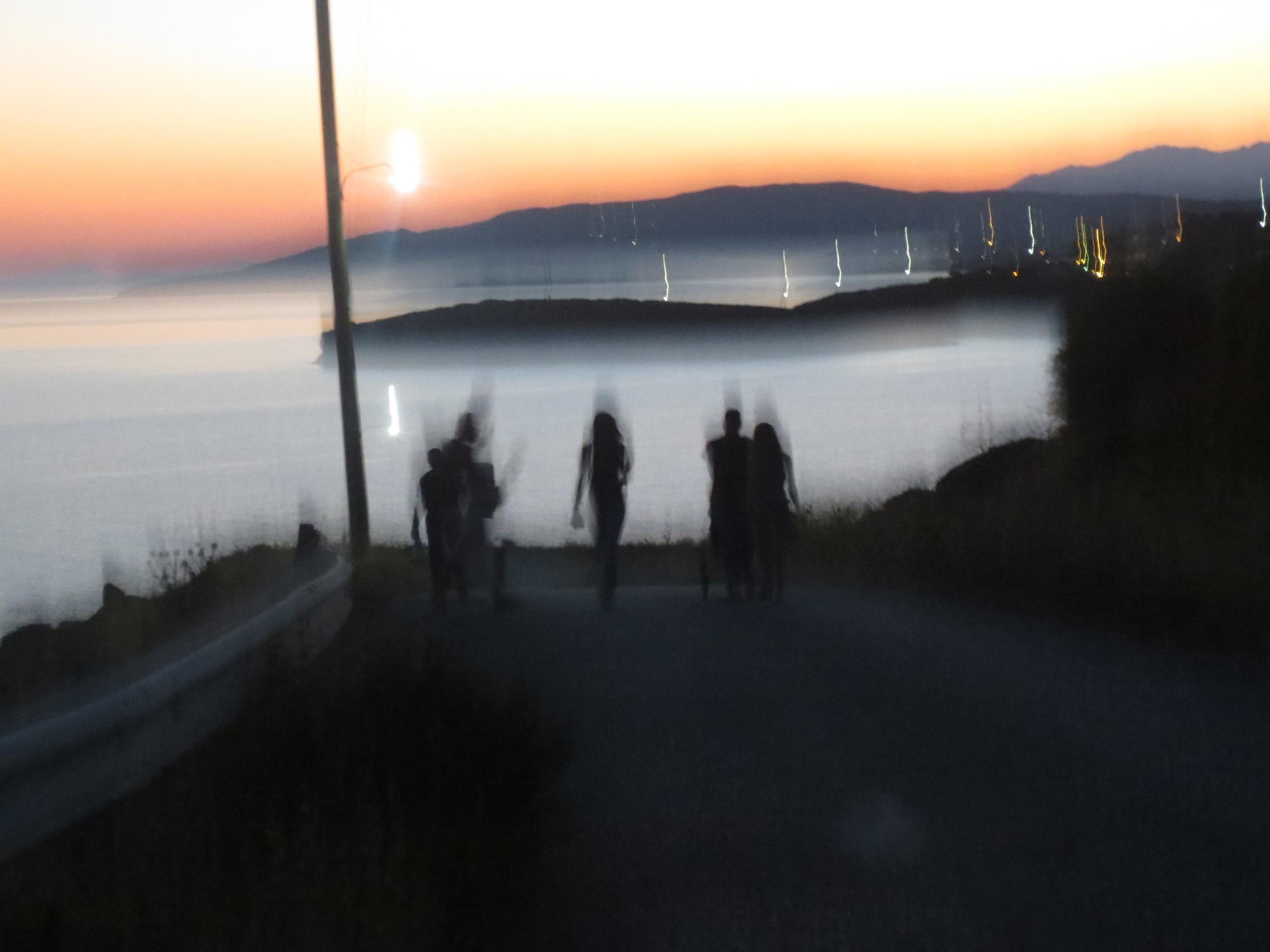 A lovely sunset stroll.