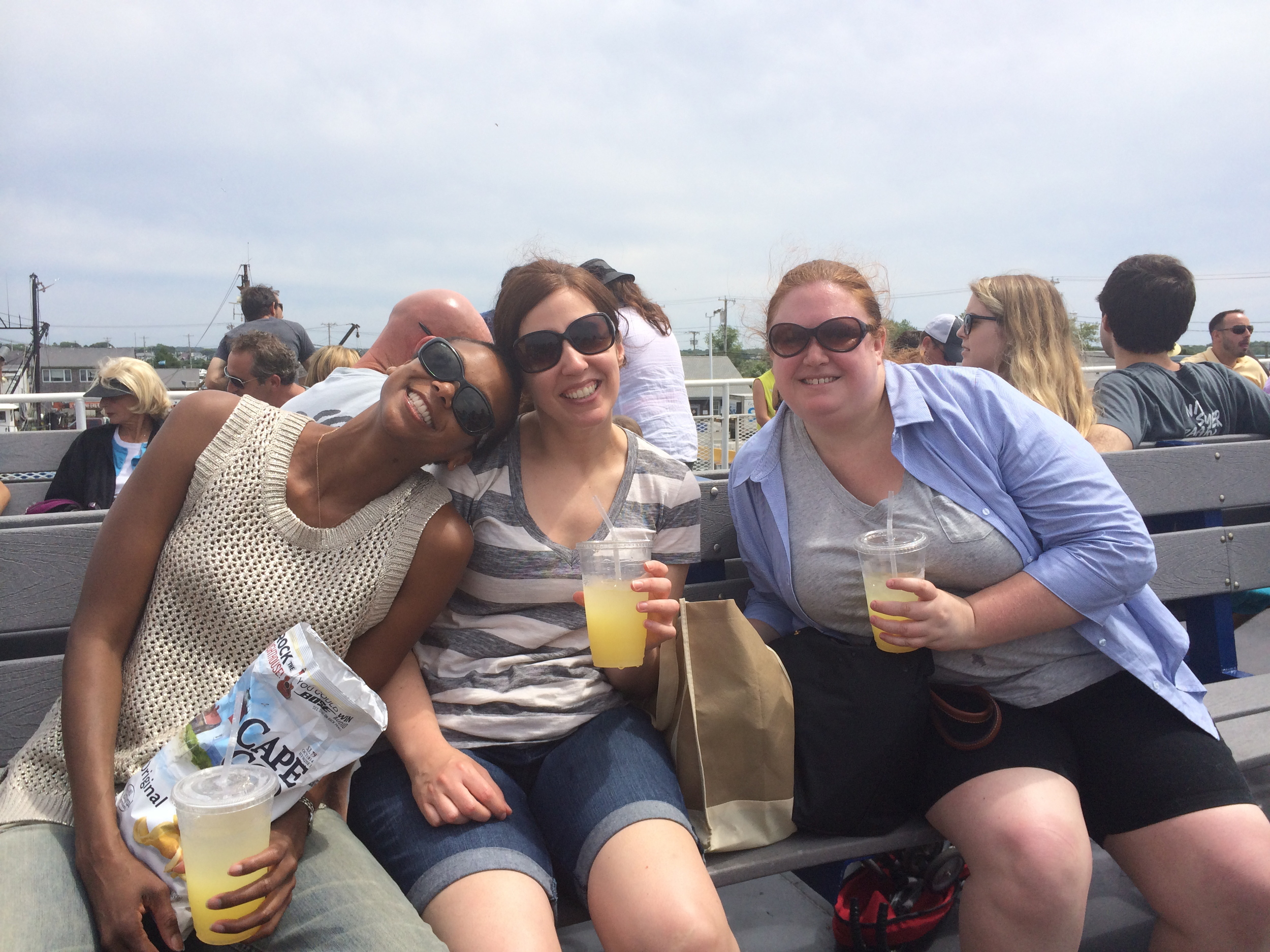 A little ferry fun on the Block Island ferry w a pair of my favorite lady lions.