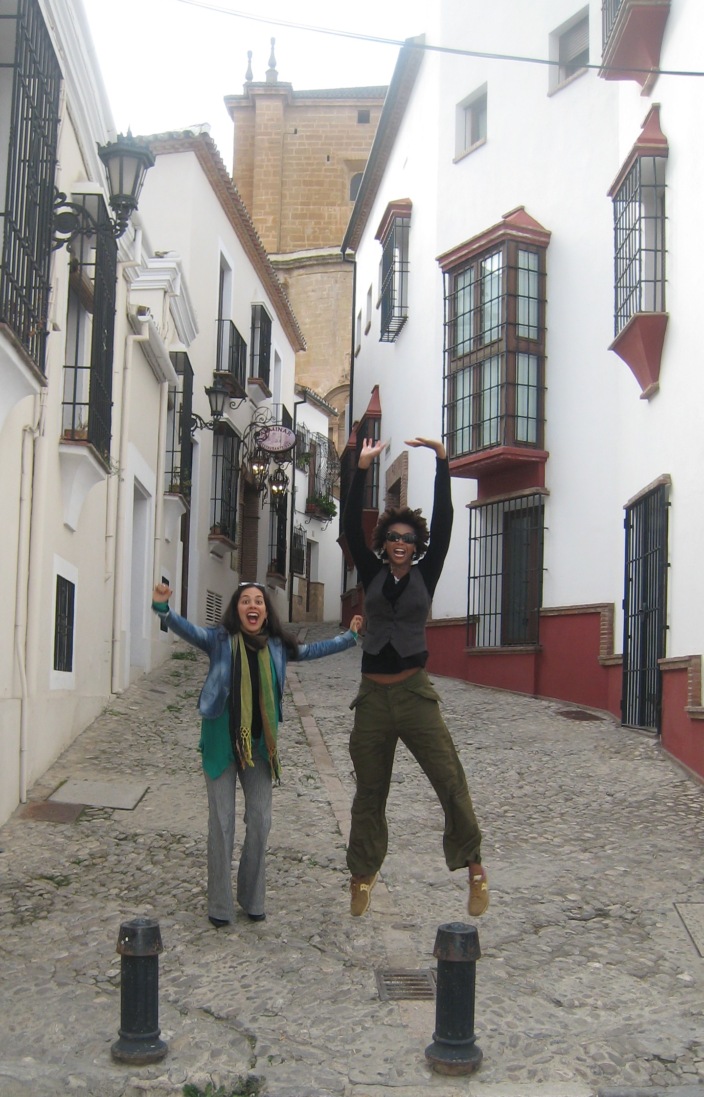 Funnin' with Melissa in Ronda, Spain.
