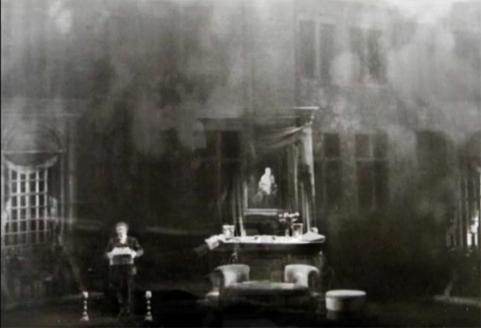 The altar of Marie can be seen as house fades.