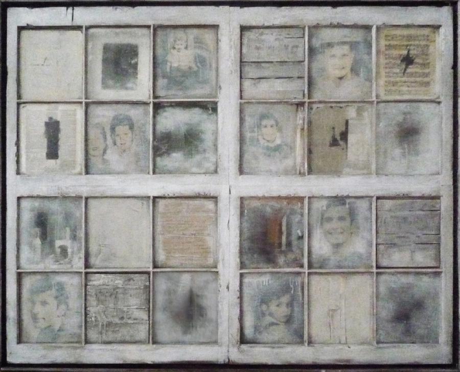 """PORTRAIT OF N.K.  1968 60"""" x 84"""" x 9"""""""