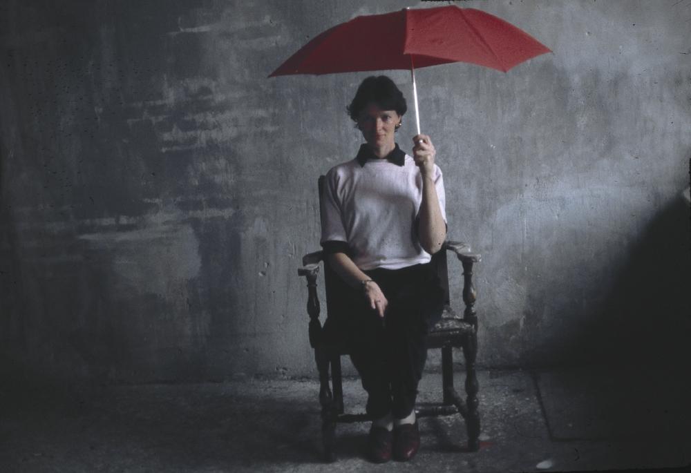 MARTHA SHERK waits for rain.