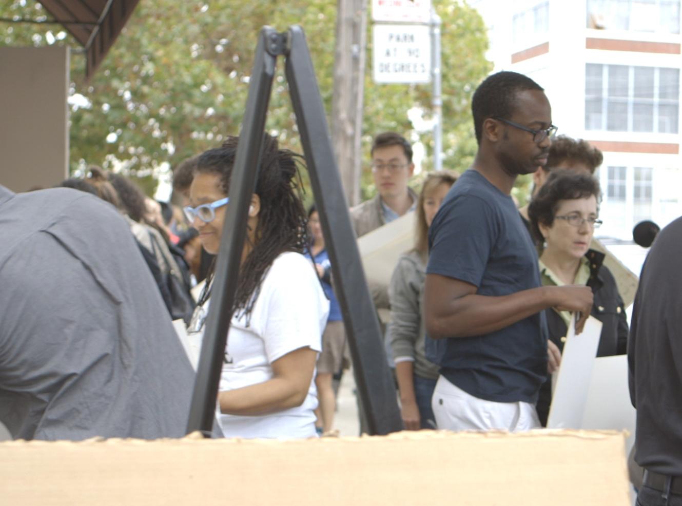 PAMELA Z in the crowd.