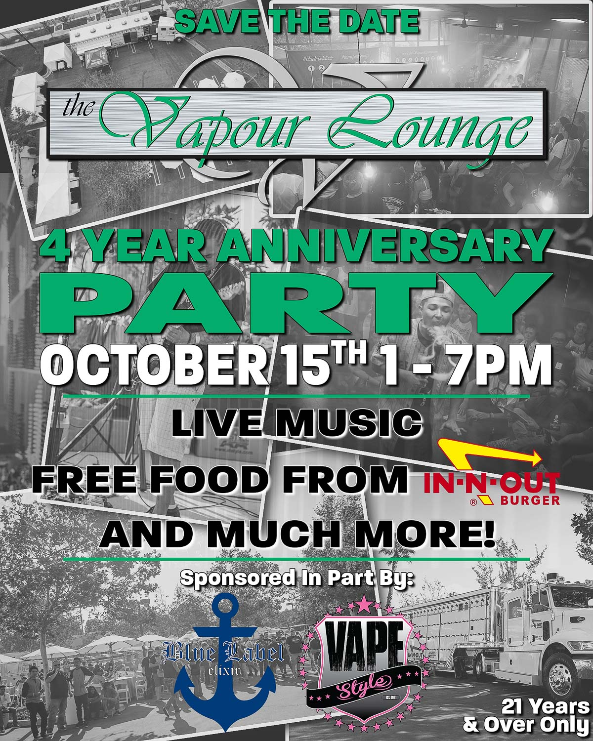The Vapour Lounge 4 Year Anniversay Party | Saturday, October 15th, 2016