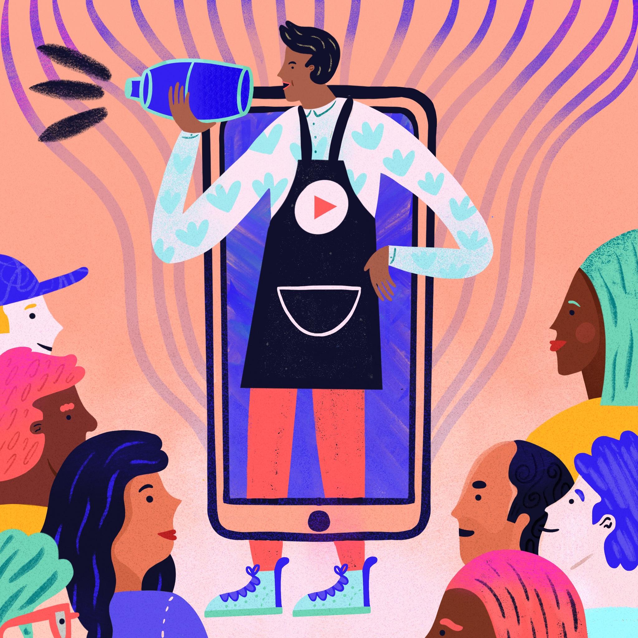 bartender-influencer-sofia-varano-illustration-editorial