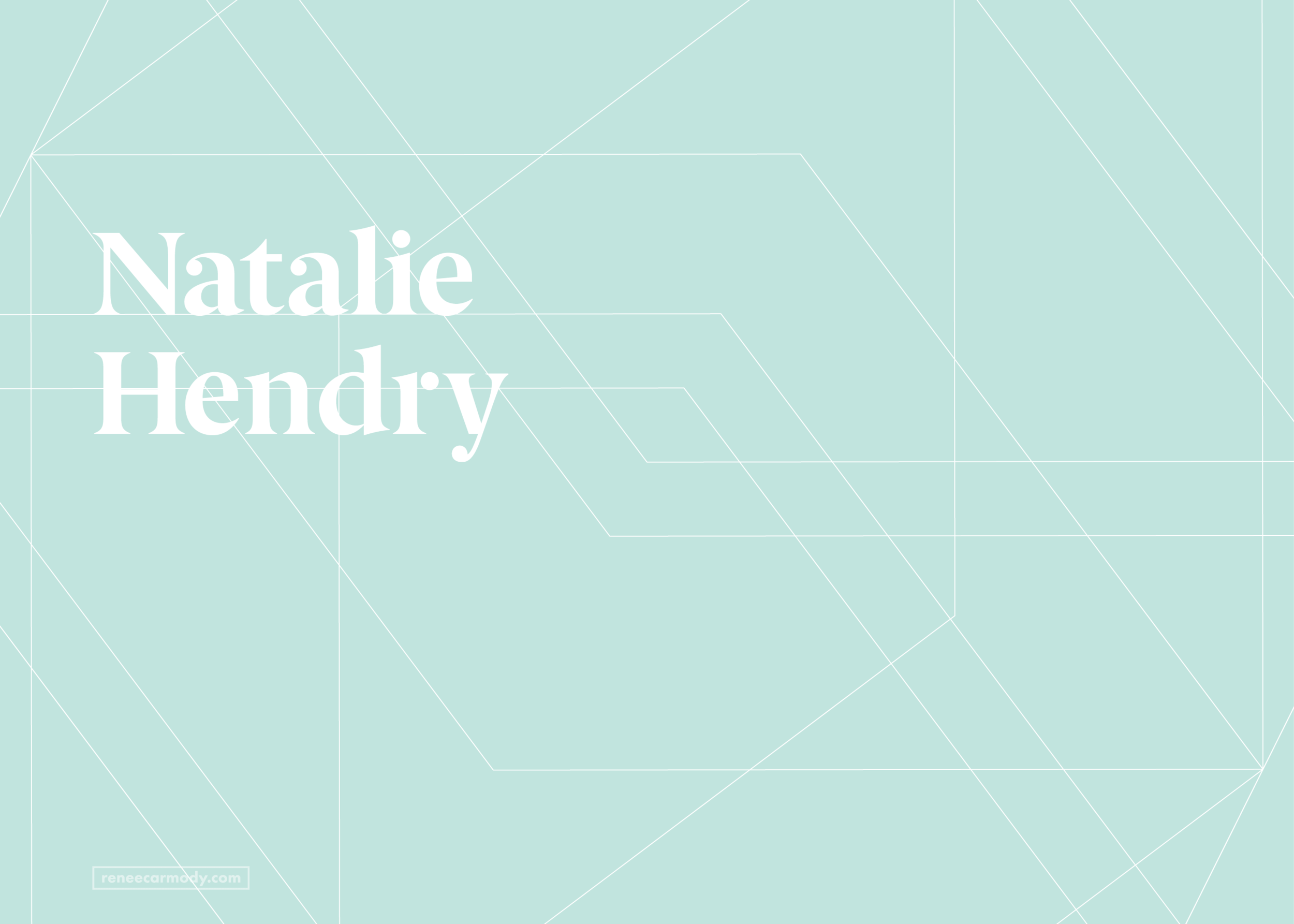 Logo and brand design for Natalie Hendry by Renée Carmody Design.