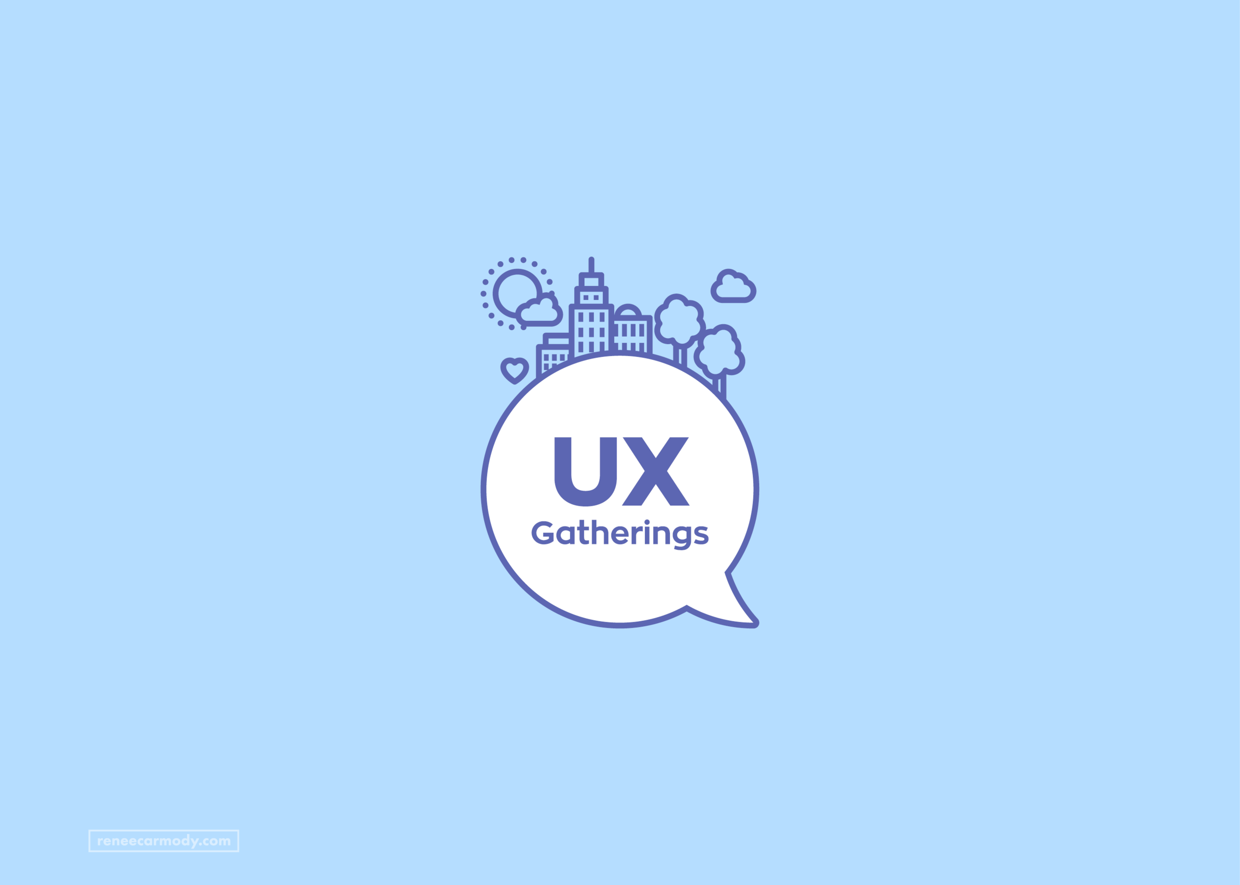Logo, brand and website design   UX Gatherings   VIEW PROJECT