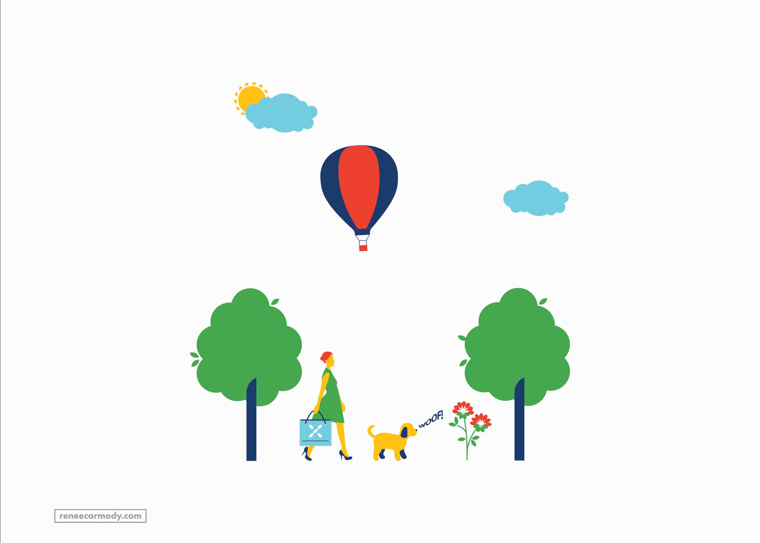 Custom illustration   Flourish Parkside   VIEW PROJECT