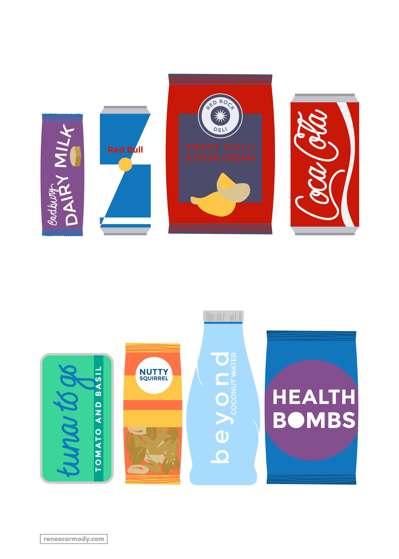 Custom food illustrations for Melbourne Vending Co website by Renée Carmody Design.