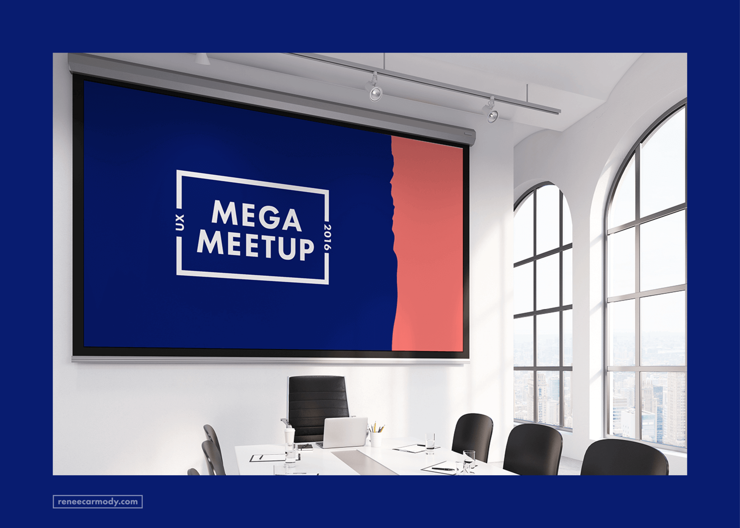 Logo and brand design for Mega Meetup by Renée Carmody Design. reneecarmody.com