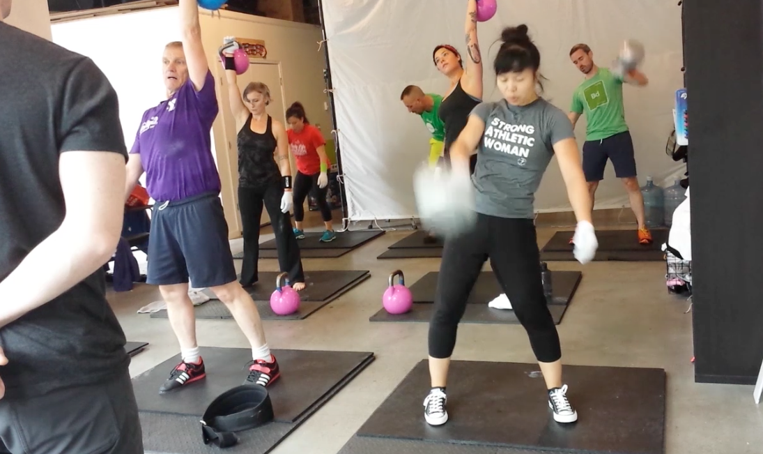 Practicing a 10-minute Snatch set with gloves for grip technique. Why does the coach have to stand right in front of me?