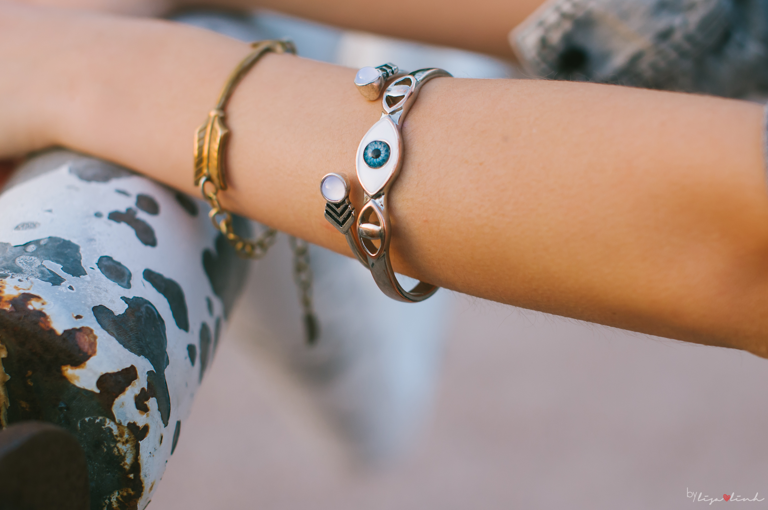 [arm candy by  Venice flea market ,  Anthropologie ,  ASOS ]