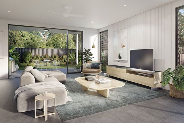 Essence Peregian Beach | Lily House Living | A neutral base palette with complimentary coastal tones.  Team: Scanlon Group  @century21noosa  Tim Partos 3D Visualisation  Red Door Architecture + Interiors