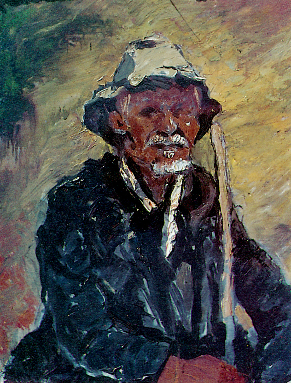 """The Oil Shepherd"" an oil painting illustrated in the Lantern in  July 1985 and in F Harmsen ""Looking at South African Art""  1985"
