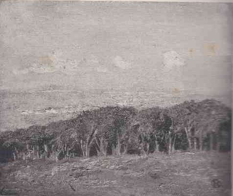 """Across Table Bay"", illustrated in Roworth's essay on SA landscape art in 1917"