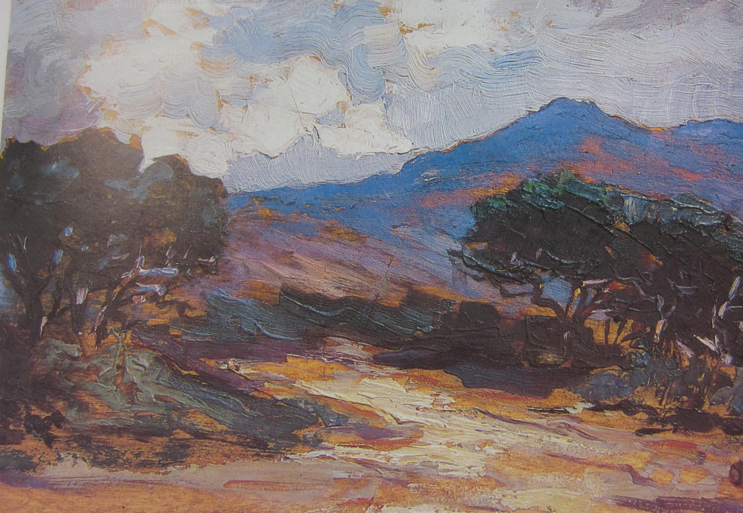"""The Road through the Valley"" Oil on wood panel 17.5 x 25 illustrated in F Harmsen ""Looking at South African Art"""