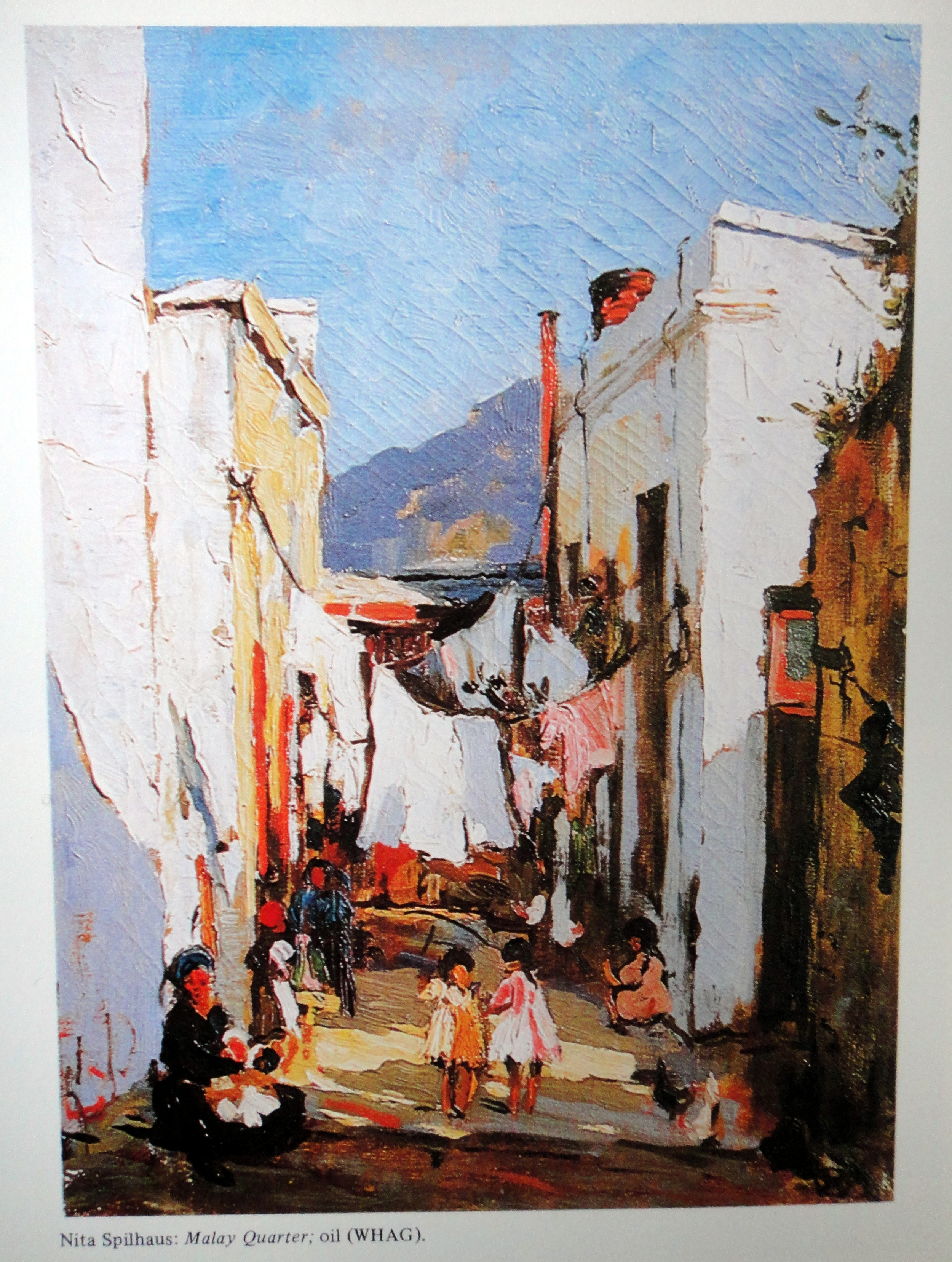 """Malay Quarter"" Oil, part of WHAG Collection but lost when a courier carrying the painting was hijacked!"