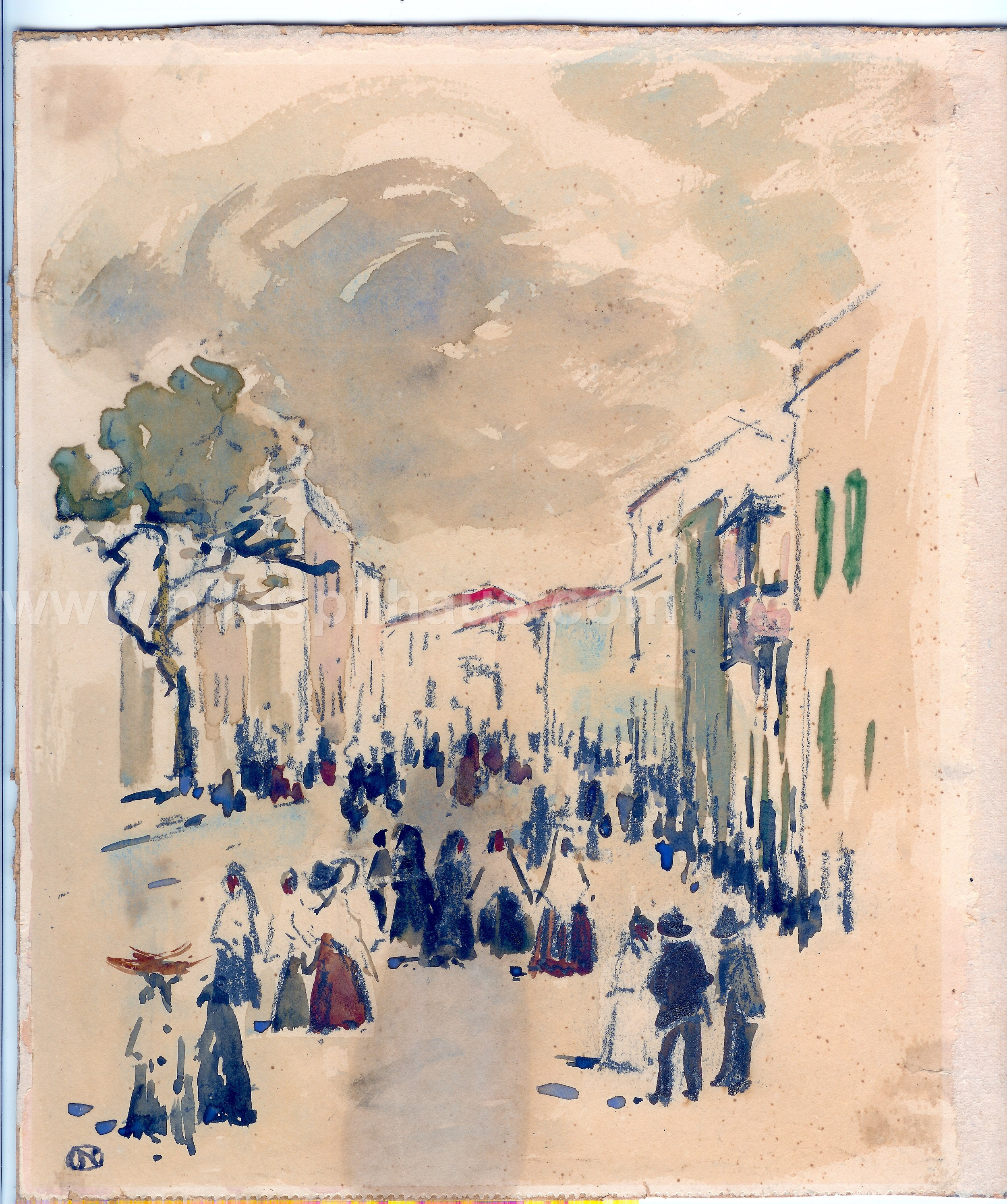 Street [in Portugal], Watercolour 24.1 x 19 Collector 2