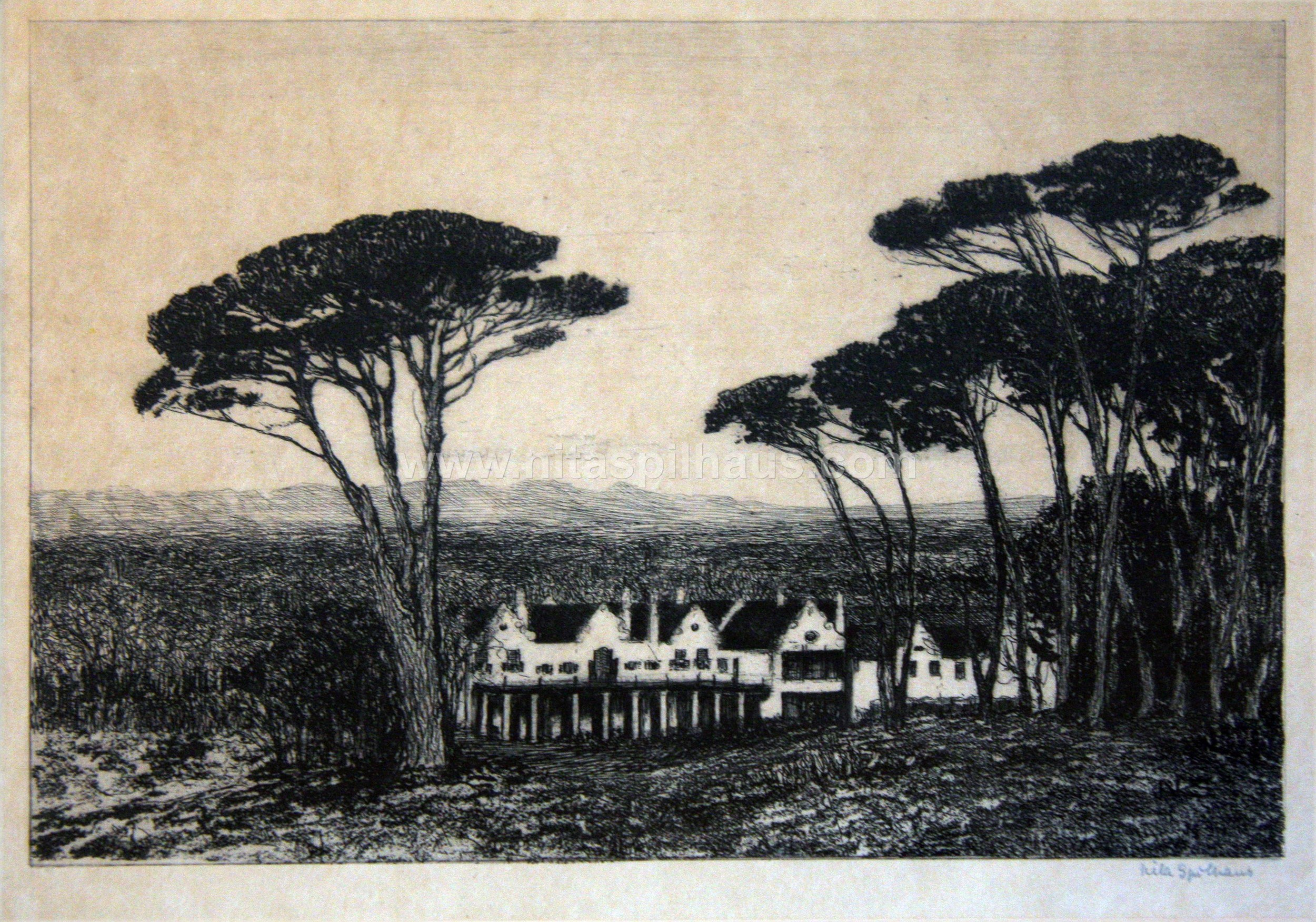 Groote Schuur, Etching Plate size 20.4 x 15.3 Collector 3