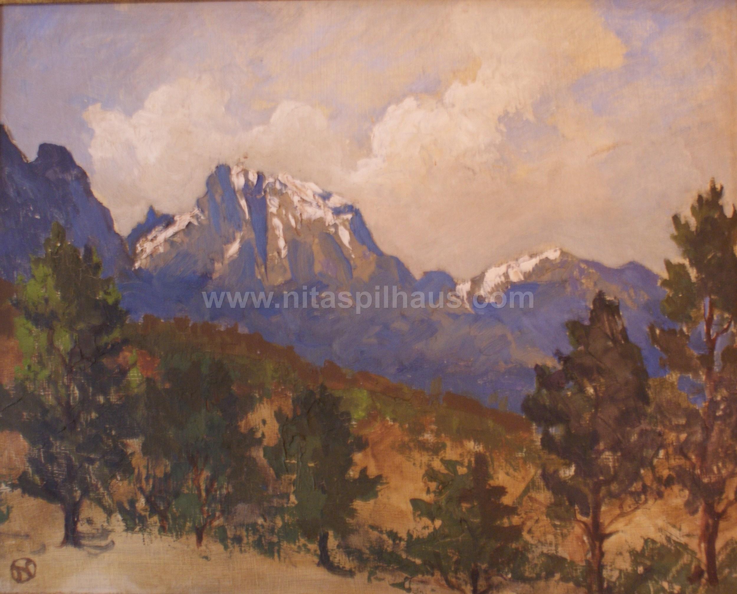 Jonkershoek Mountains Oil on Canvas 1955 28 x 36 Collector 7