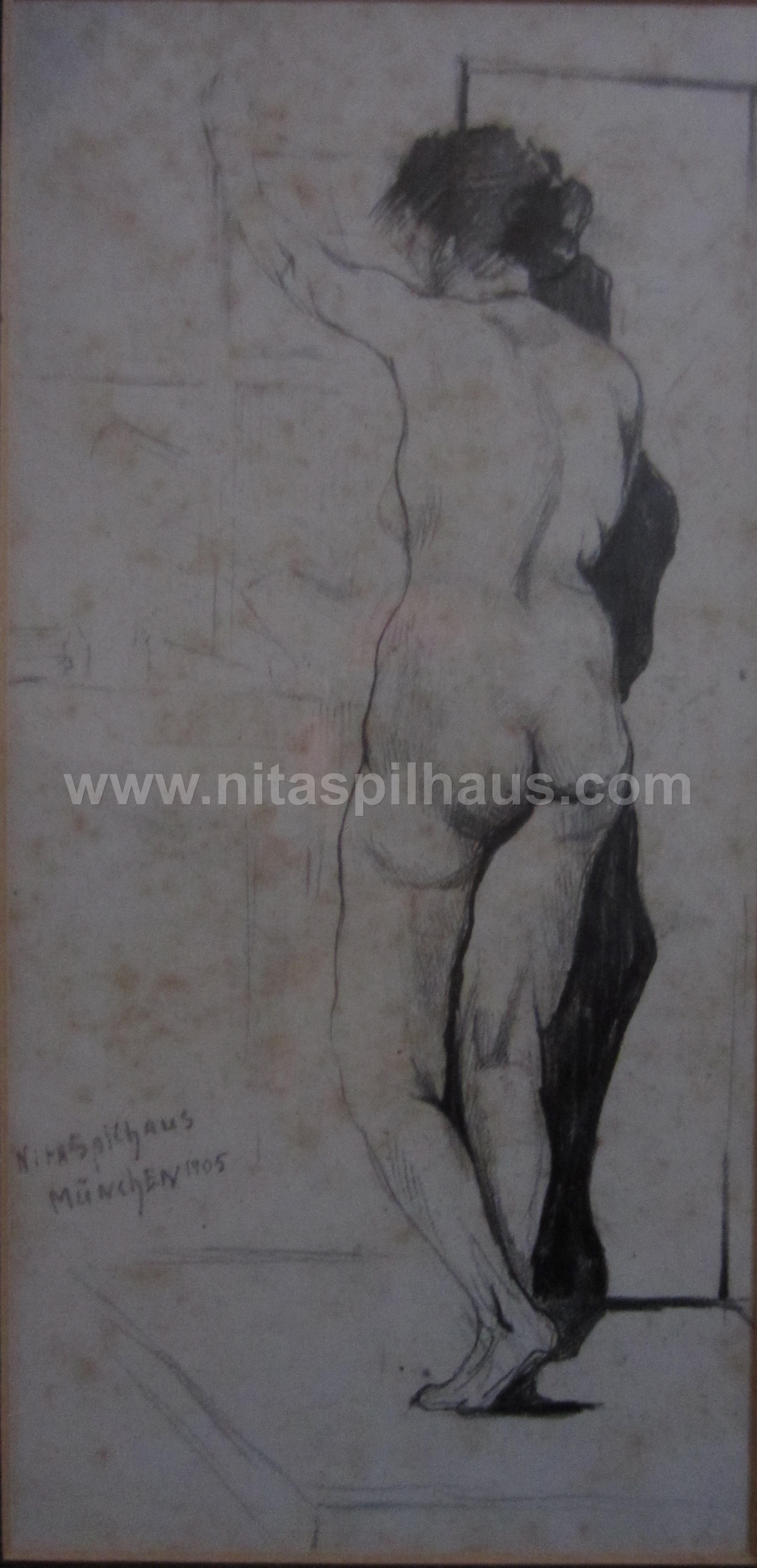 Nude Pencil on paper Munchen 1905 Collector 11