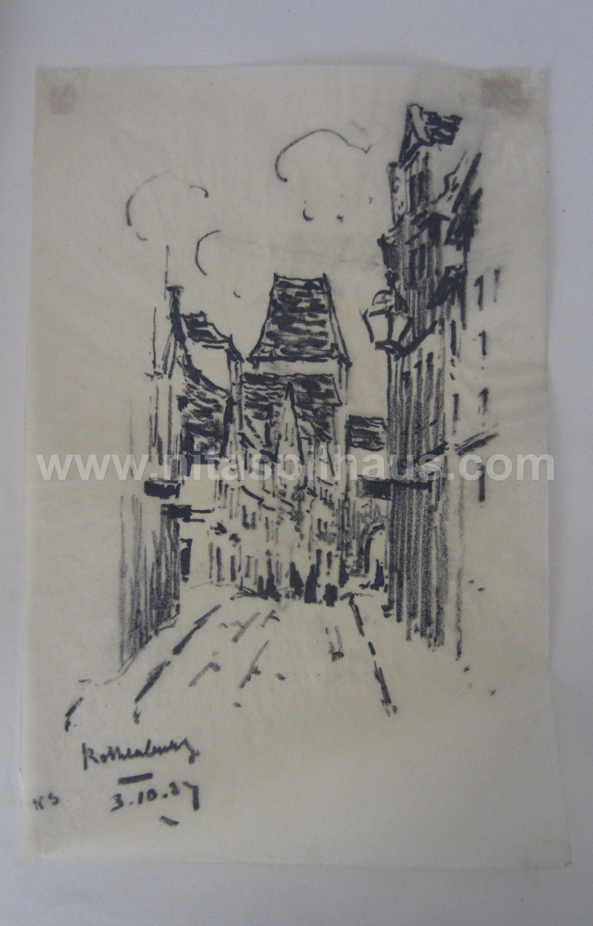 Rothenberg 3.10.27 charcoal on paper 28 x 18 Collector 11
