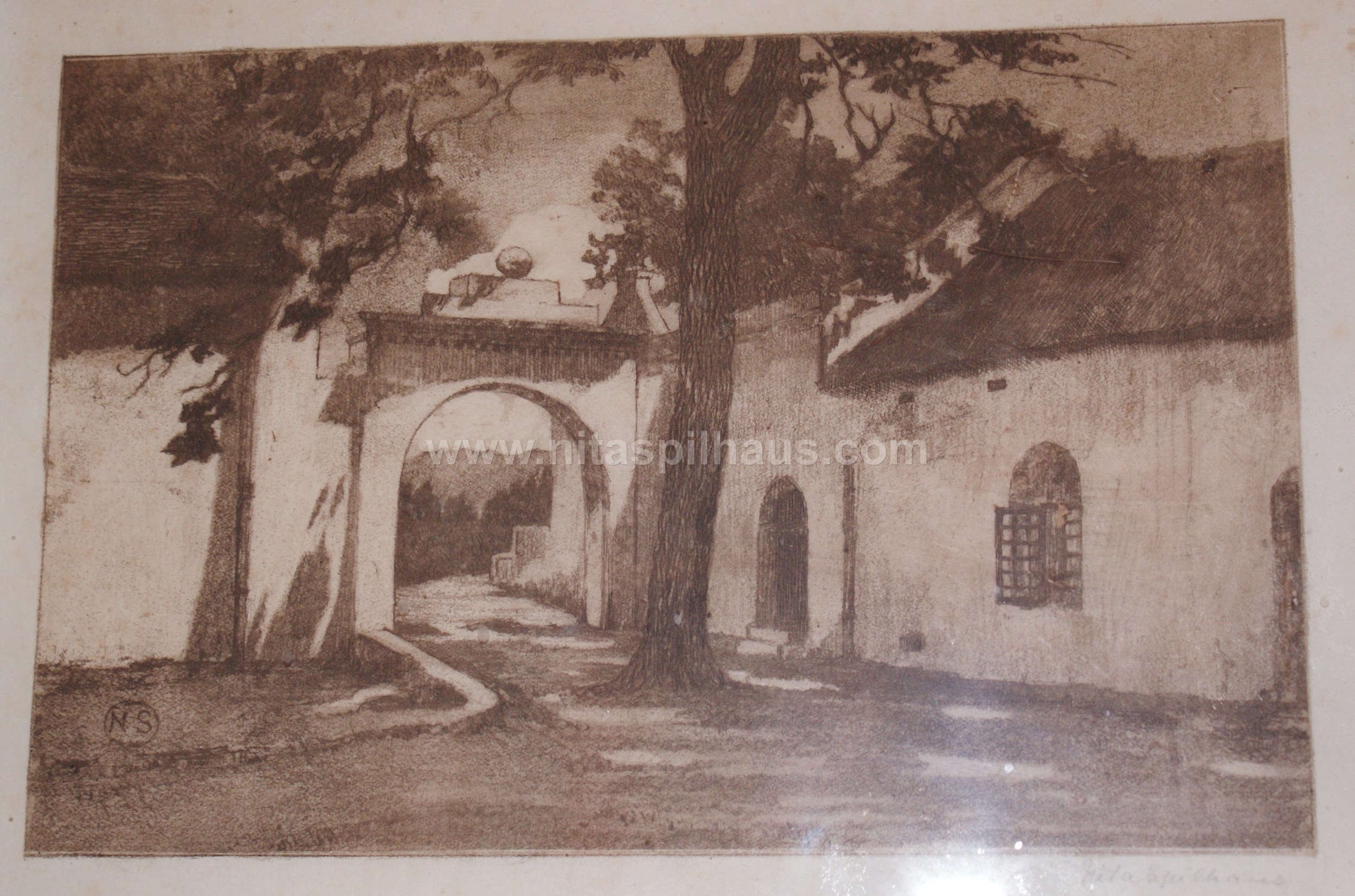 Etching Carriage Arch of Alphen  14  x 20 Collector 12