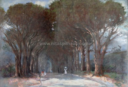 The Avenue at Alphen, Pastel on paper 71 x 100 Collector 14