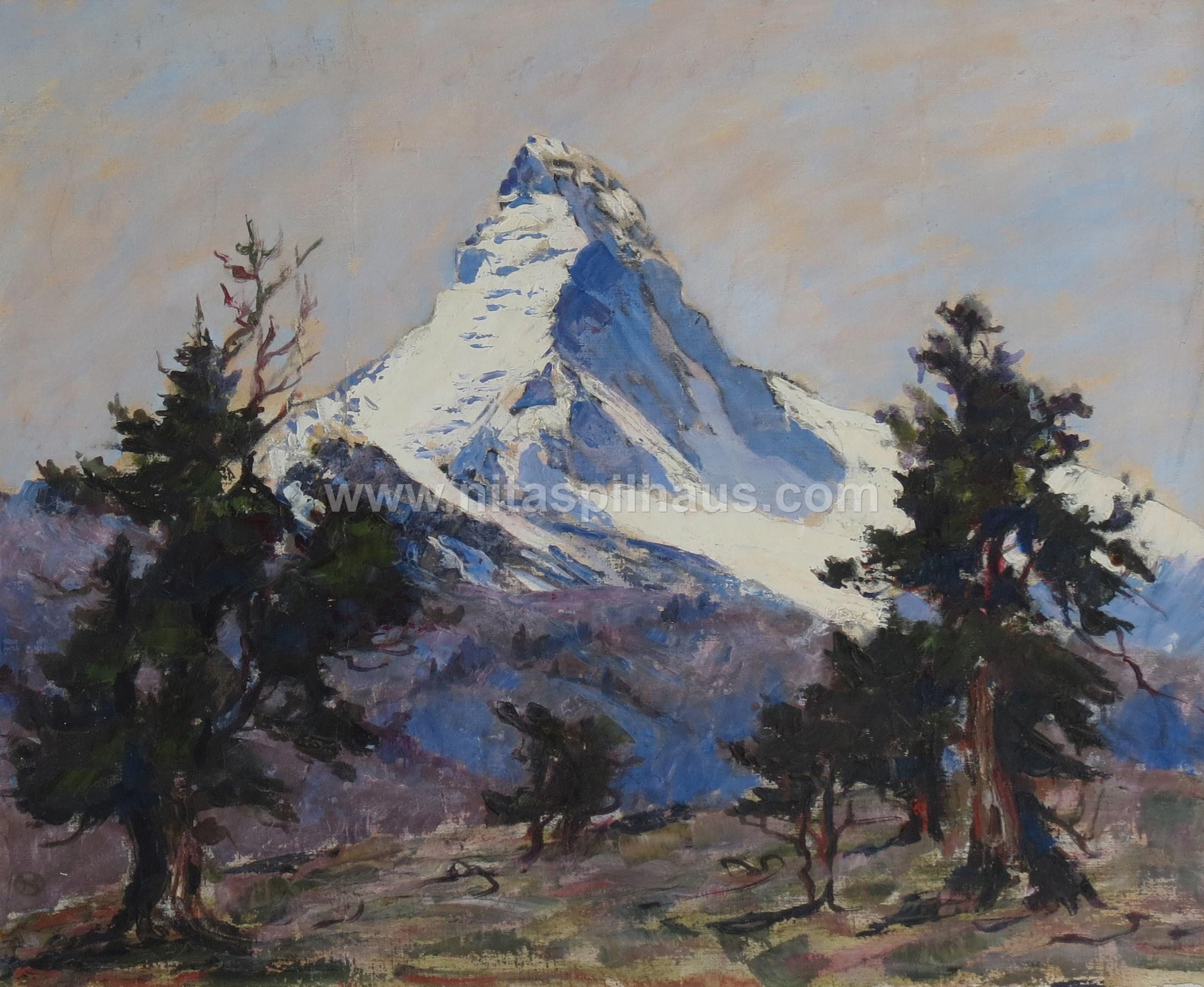 The Matterhorn, Oil on canvas, 45 x 54.4, Collector 20