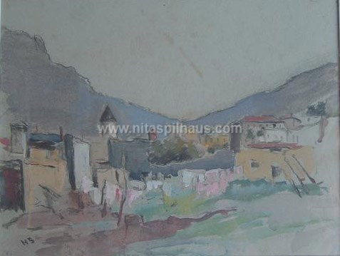 Bo-Kaap, watercolour, 35 x 28, formerly owned Collector 27, now sold