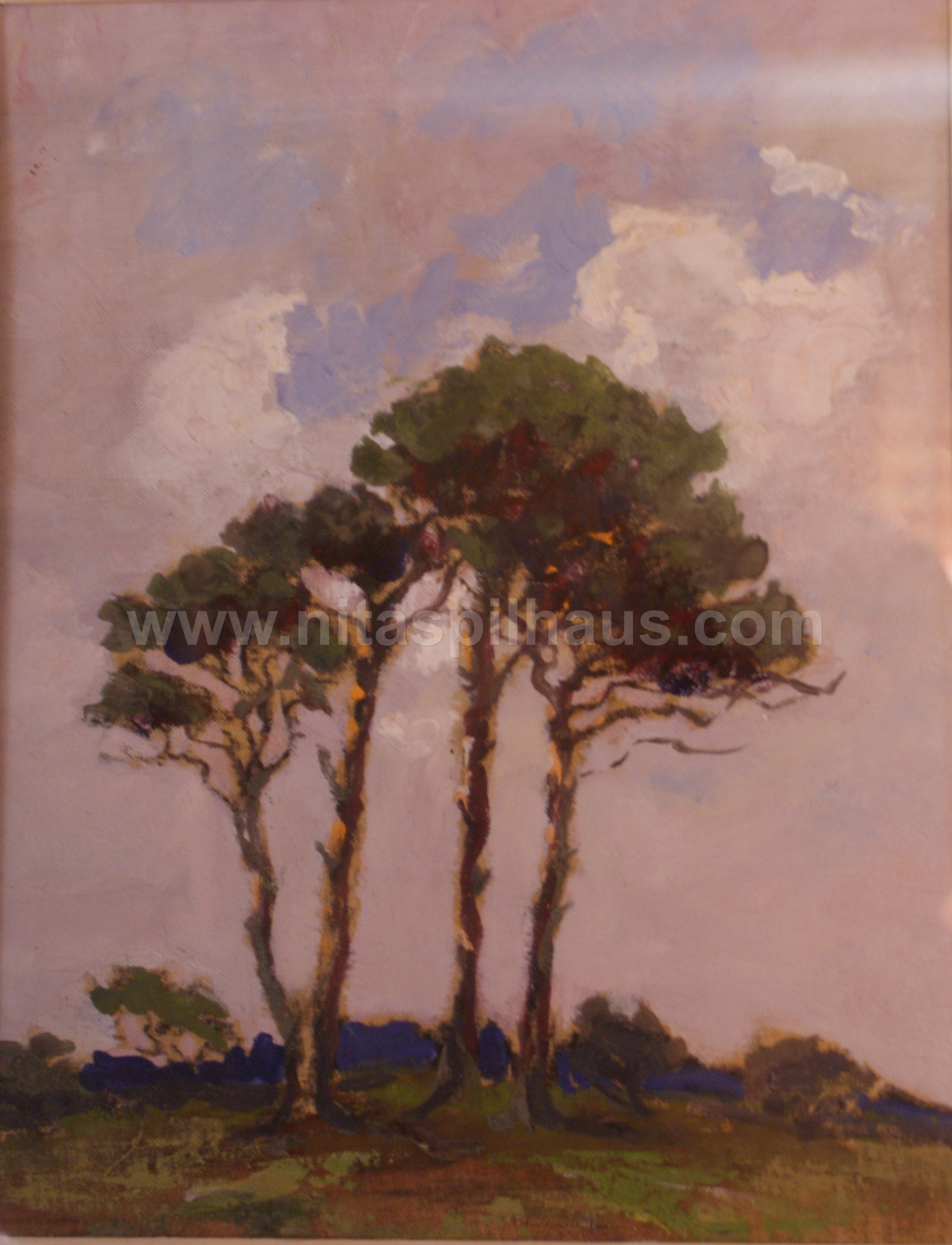 Pine Trees Oil on Canvas 1950 23 x 18 Collector 7