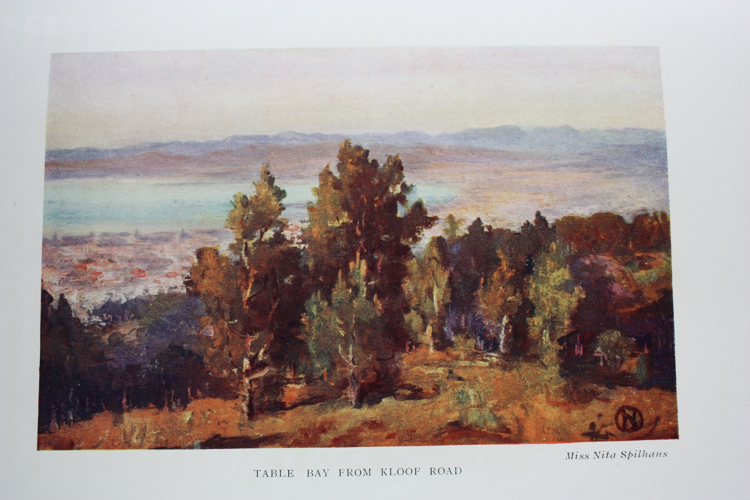 """Table Bay from Kloof Road"" illustration in ""Our Beautiful Peninsula"" by Herbert Tucker 1913"