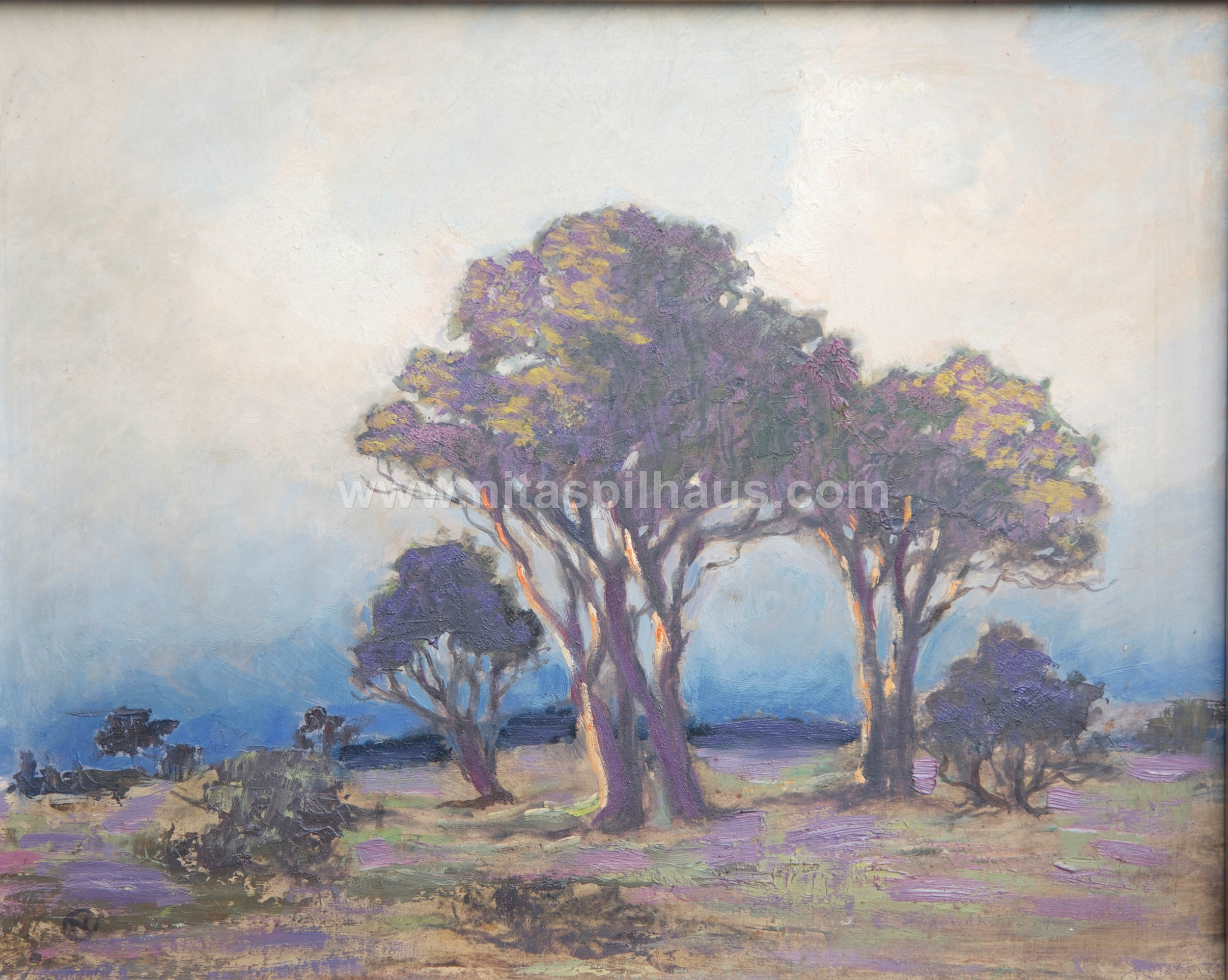 Trees, c 1955, Oil, h 39.3 cm x w 48.7 cm,Collector 29