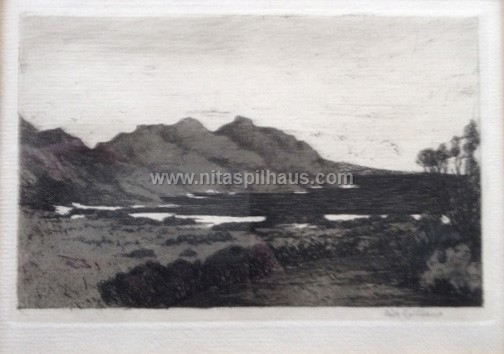 Hout Bay Etching  10 x 14 Collector 54