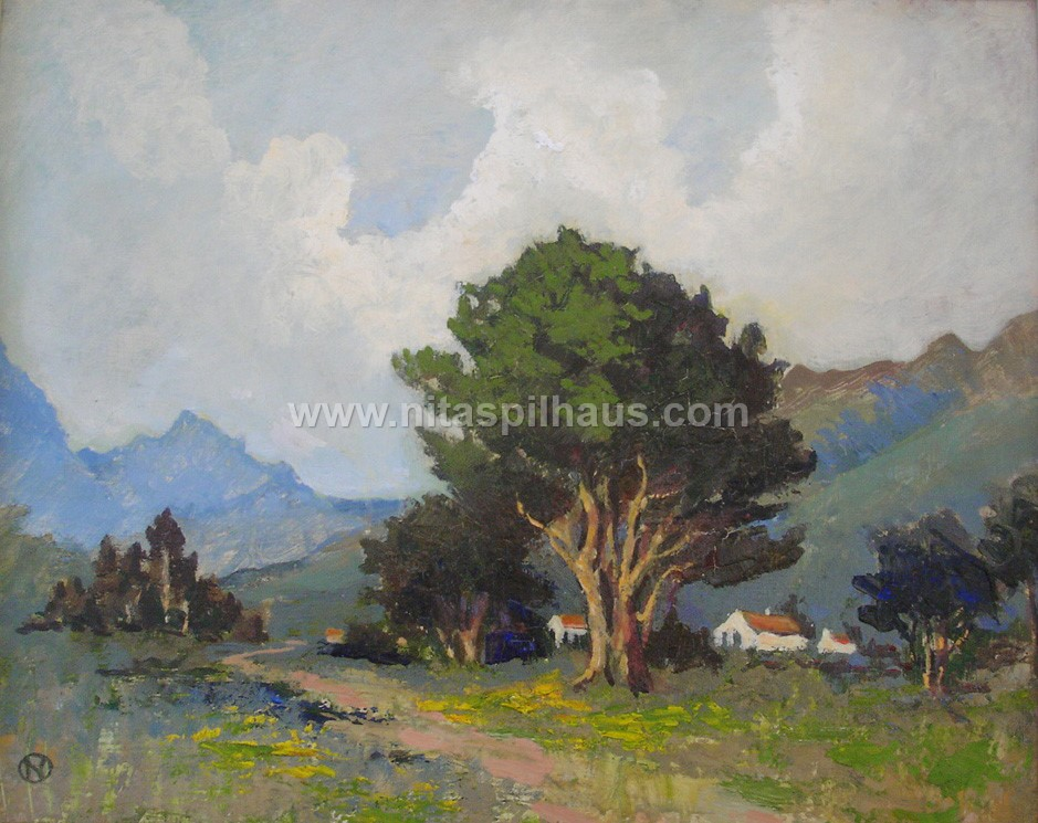 Road through the Valley, Oil on Board, 44 x 35 cms, Collector 55