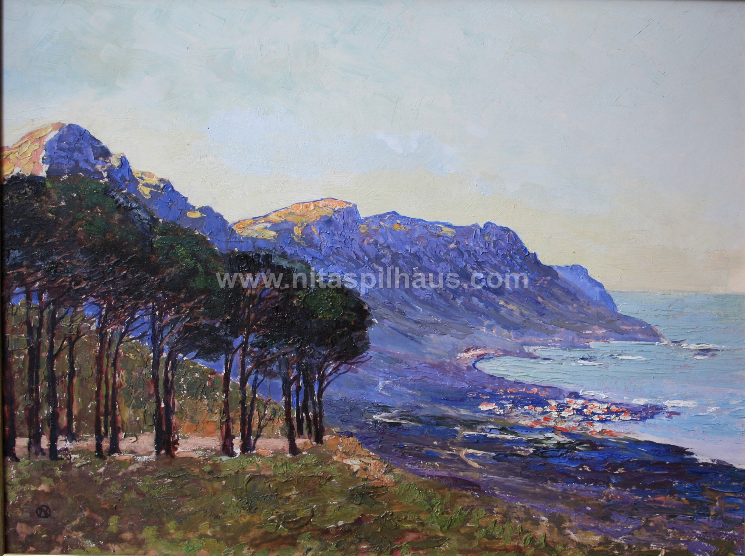 The Twelve Apostles Table Mountain, Oil on Board, 45 x 59 cms Collector 59