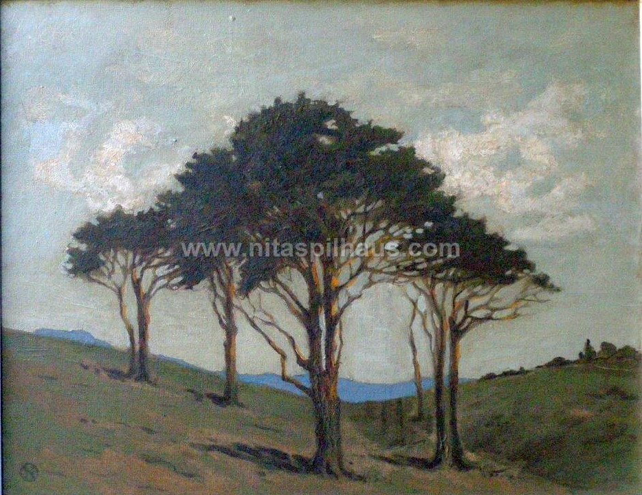 Lonely Trees, Oil on Canvas, 45.4 x 59 cms, Collector 67