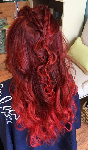 Ravishing Red color and fun styling by Courtney