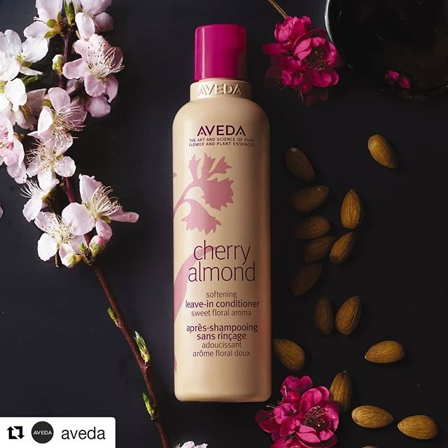 *Pssst* I know where you can get some this amazing new love-in with 12 instant benefits! Stop by @spaonmain To check it out! #avedaarkansas  #Repost @aveda (@get_repost) ・・・ Your hair care routine just got a whole lot sweeter. Our NEW leave-in conditioner has arrived! #CherryAlmond Leave-In Conditioner softens and smooths hair with zero silicones for silky, run-your-fingers-through it softness. #SmellsLikeAveda